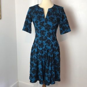 Danny and Nicole Jaquard Knit Fit & Flare Dress